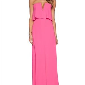 BCBG Alyse Gown in hot pink